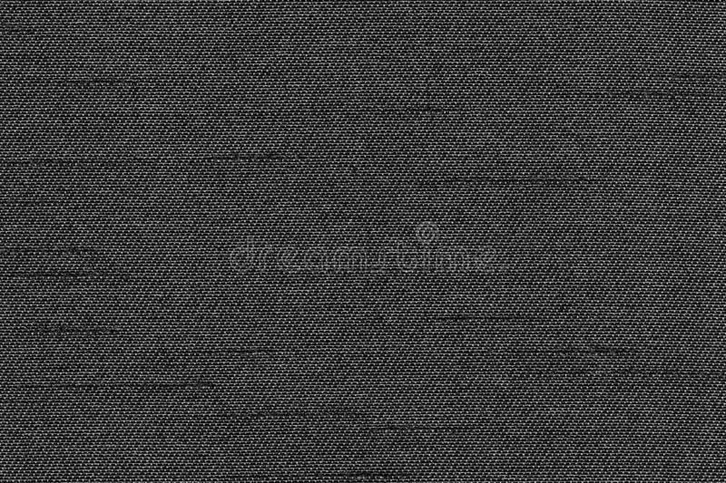 Closeup black color fabric texture. Strip line black fabric pattern design or upholstery abstract background. stock images