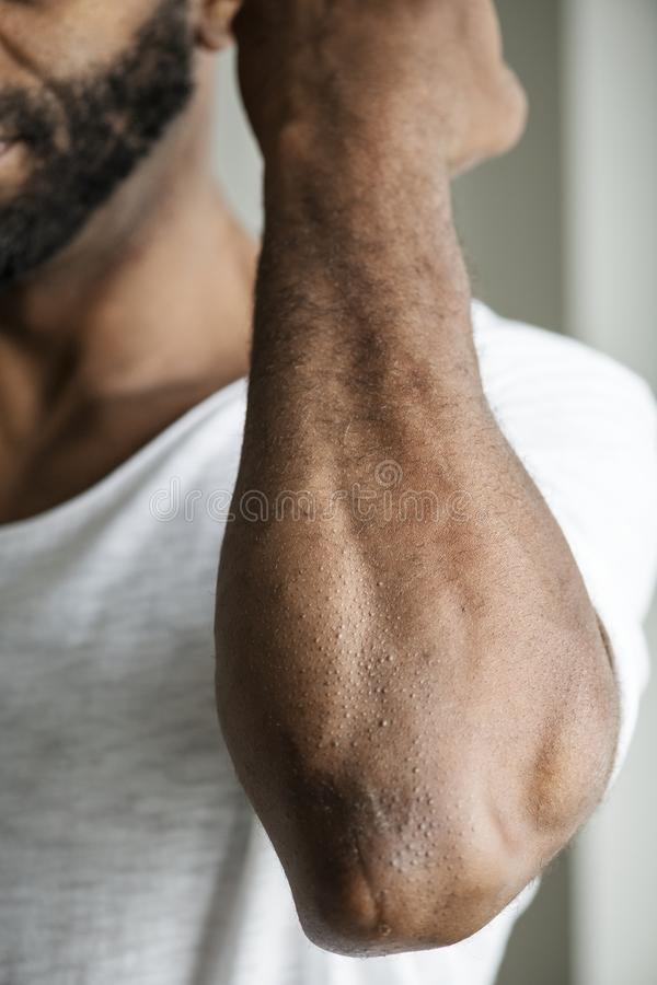 Download Closeup Of Black Person`s Arm Stock Photo - Image of america, muscular: 111891324