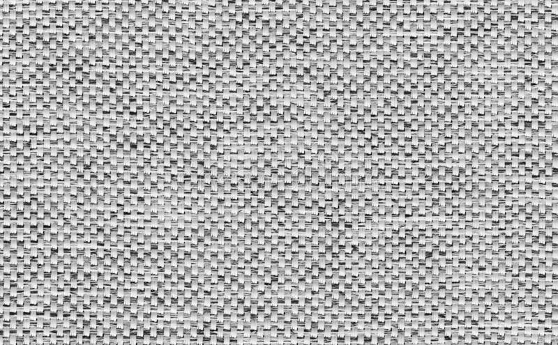 Closeup black and white, grey color fabric texture. Strip line white ,silver fabric pattern design or upholstery abstract backgrou stock photography