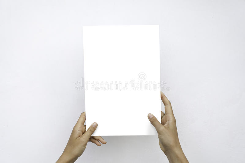 Download Closeup Blank White Paper Sheet Mockup Holding Female Hands Abstract Grey Background. Stock Photo - Image of finance, cardboard: 77671942