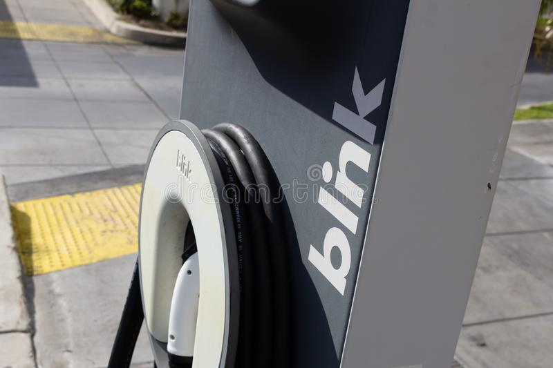 Blink electric charging port stock images