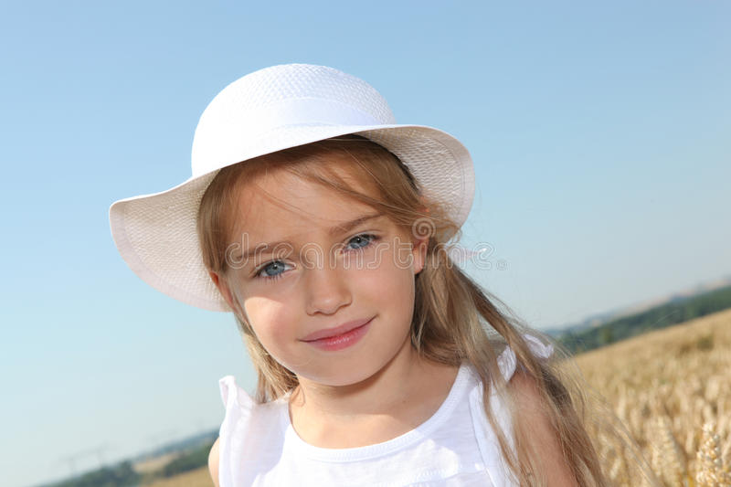 Closeup of blond little girl royalty free stock images