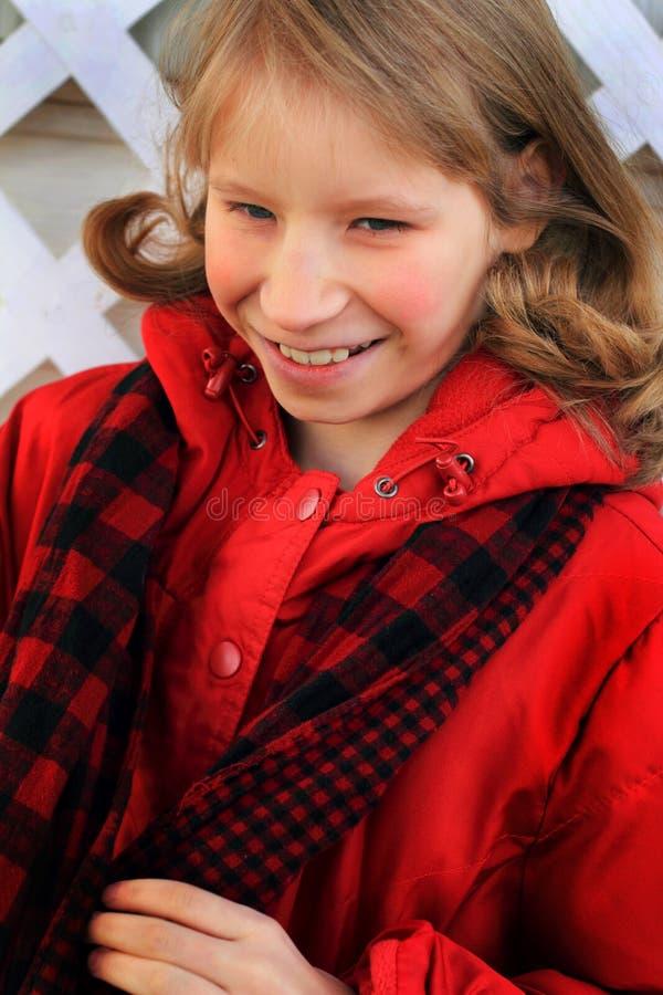 Closeup of Blond Preteen stock photos