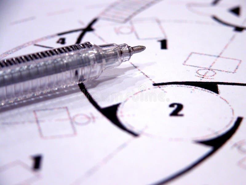 Closeup - blueprints stock images