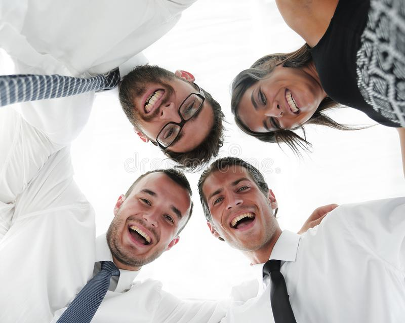 Closeup.bottom view.successful business people stock photo