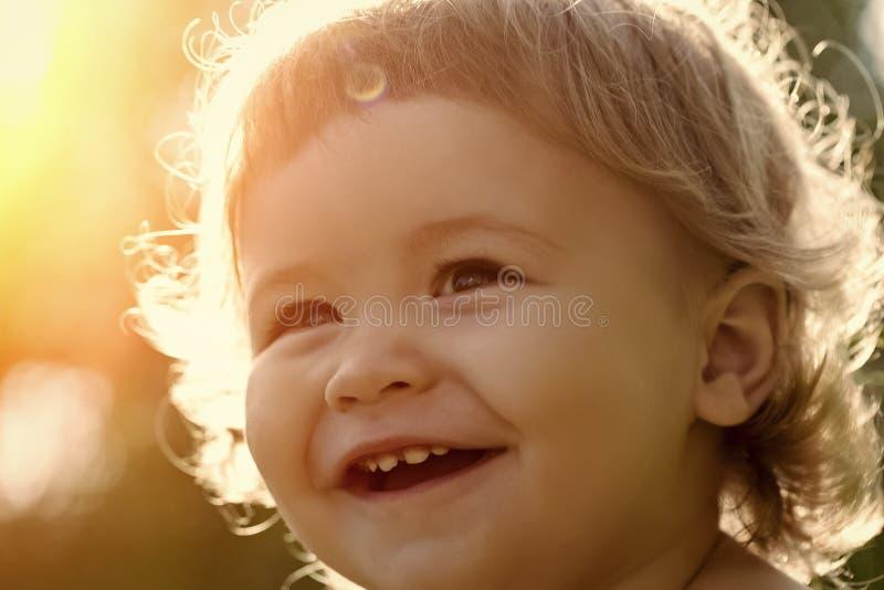Closeup of boy outdoor stock image