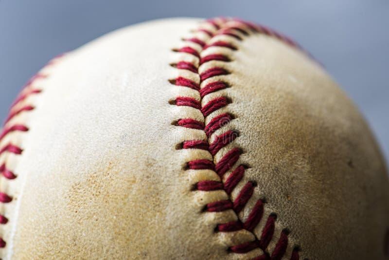 Closeup of brown baseball ball sport equipment stock image