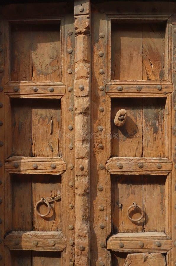 Closeup Of Brown Indian Wood Door Stock Photo Image