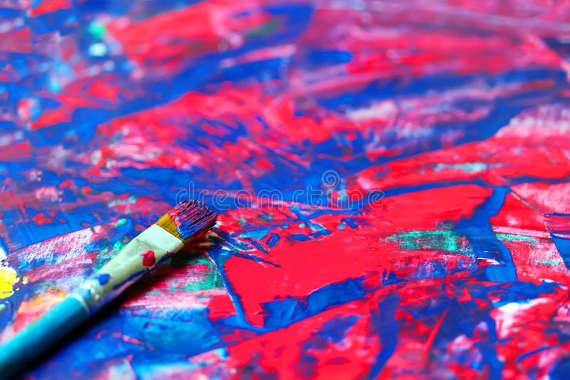 Download Closeup Of Brush And Palette Stock Illustration - Image: 43440240