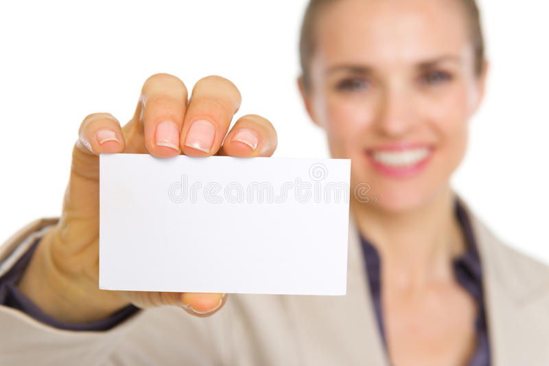 Download Closeup On Business Card In Hand Of Business Woman Stock Image - Image of suit, copy: 31130417