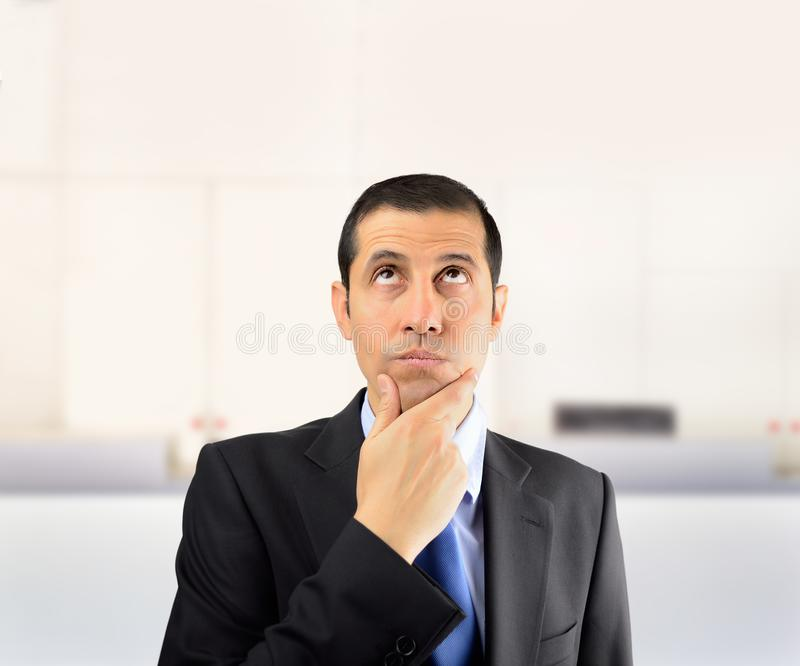 Business man pensive royalty free stock images