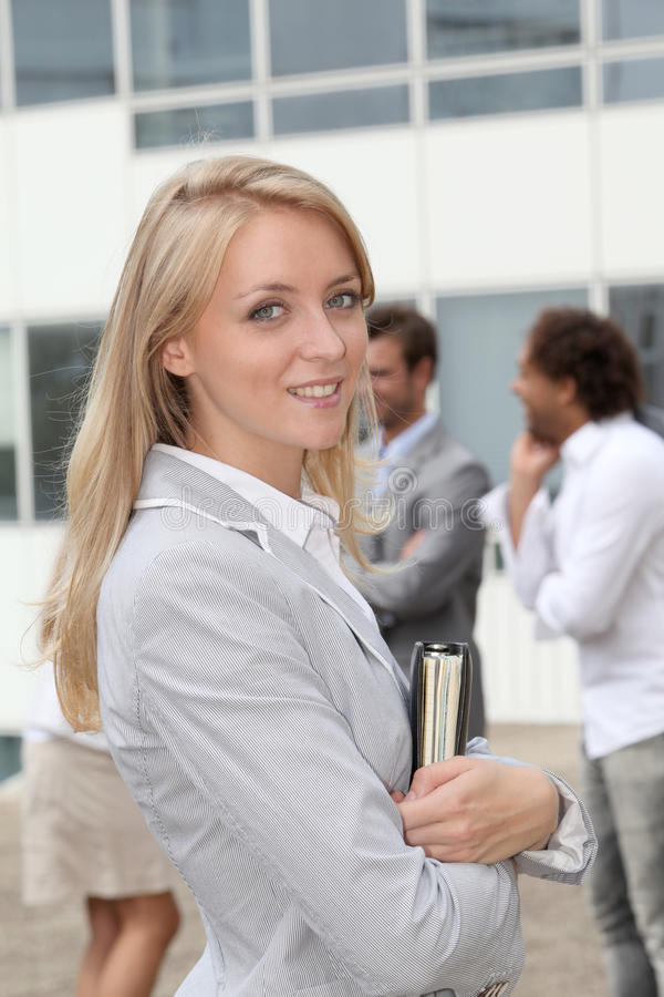 Closeup of businesswoman royalty free stock images