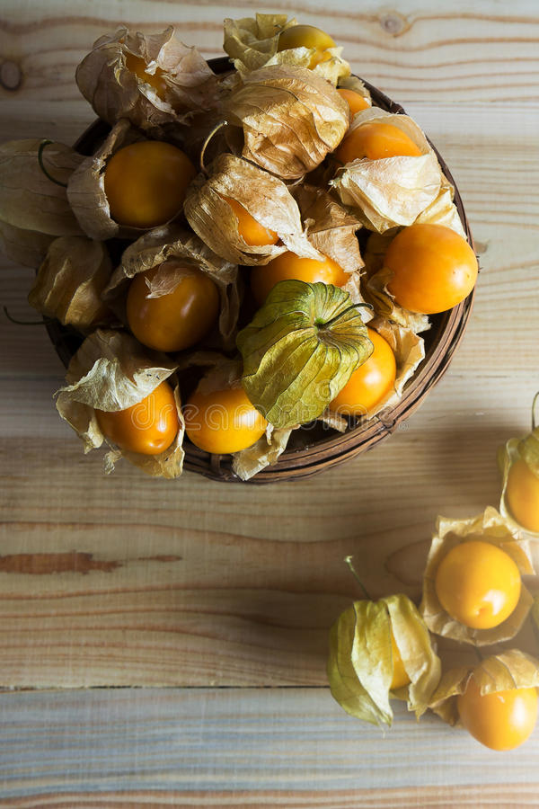 Closeup Cape gooseberry royalty free stock photography