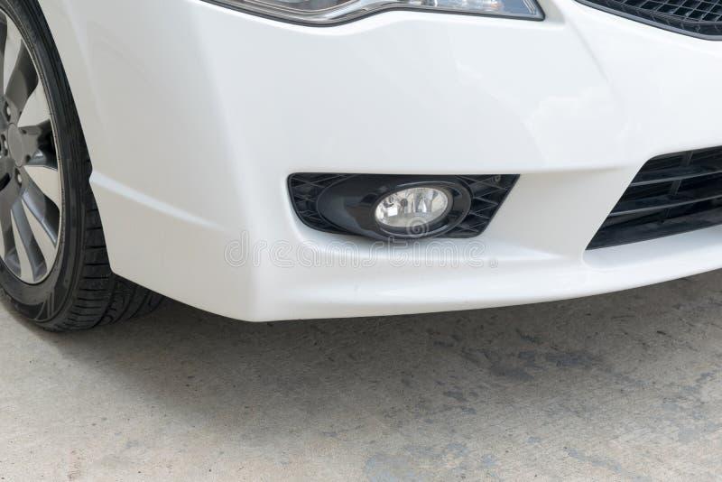 Closeup of car fog light royalty free stock photography
