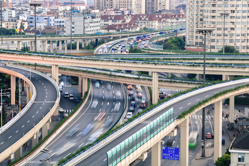 Download Closeup Of Car Motion Blur On Highway Viaduct Stock Image - Image of motion, junction: 27639151