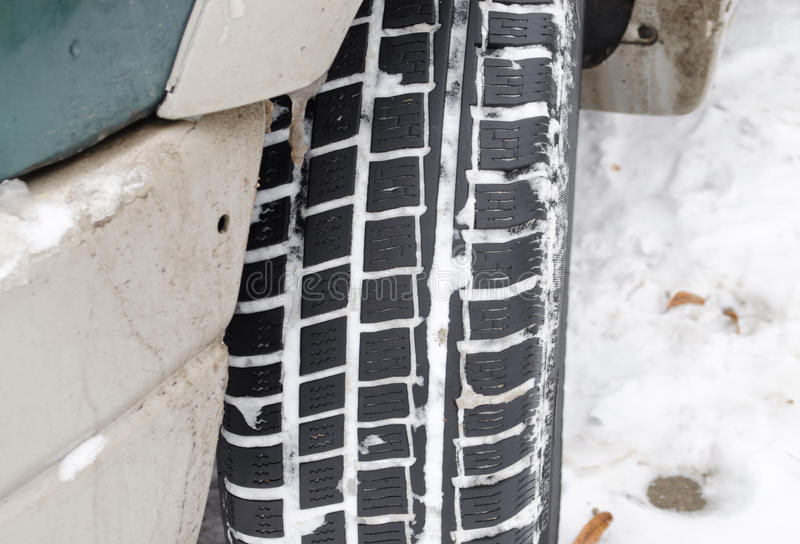 Download Closeup Car Tire Tread Protector Full Snow Winter Stock Photo - Image: 28941584
