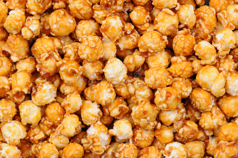 Closeup of Caramel Corn. Fills the Frame stock photos