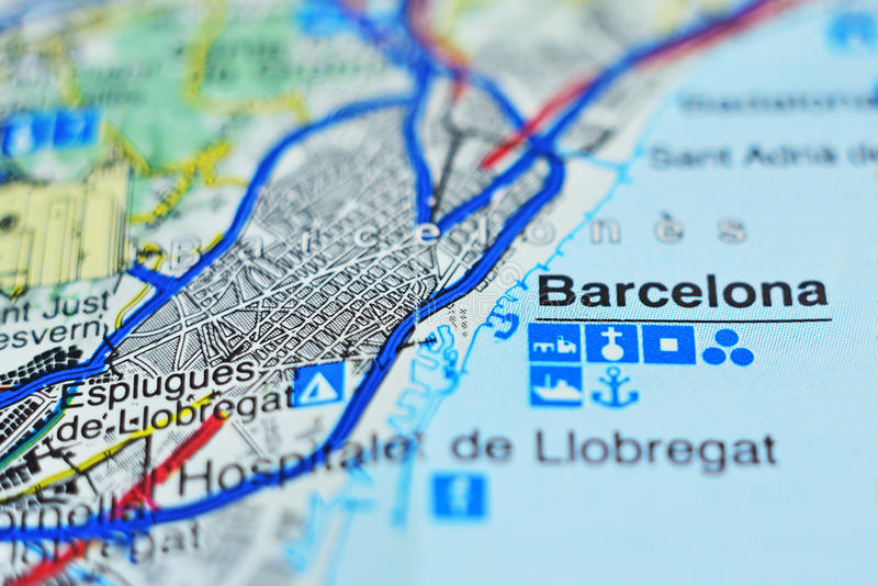 Closeup of Catalonia map stock photo Image of paper 94072832