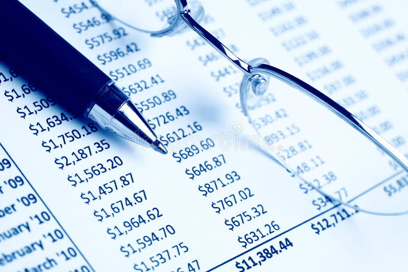 Download Closeup of a chart stock photo. Image of business, diagram - 15448636