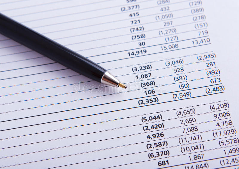 Download Closeup Of A Chart With Pen Stock Photo - Image: 23887580