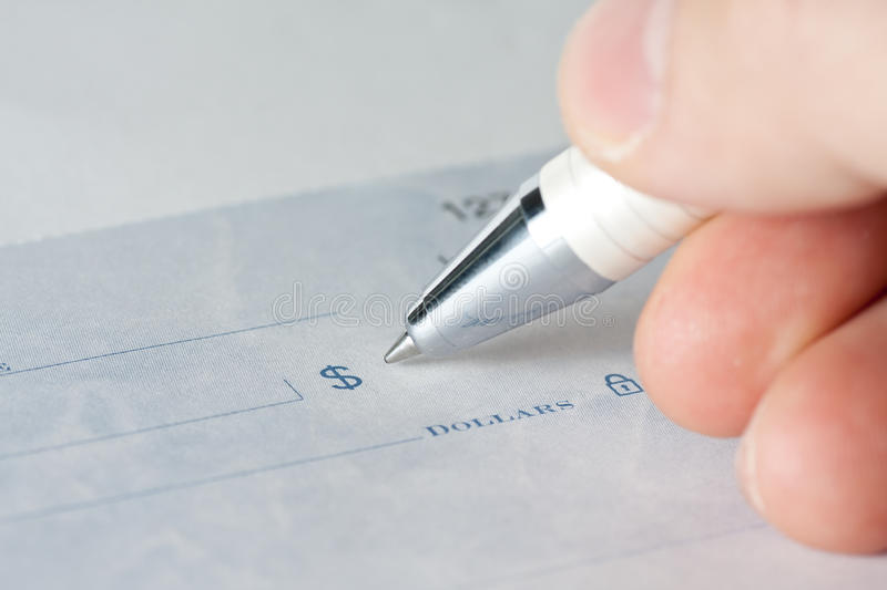 Download Closeup of a cheque stock image. Image of accountancy - 19869969