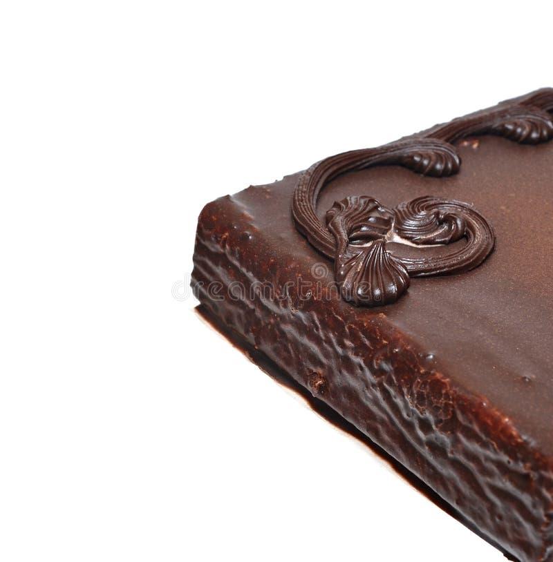 Closeup of chocolate cake stock photography
