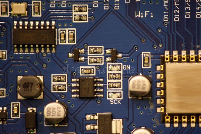A closeup of a circuit board. royalty free stock photos