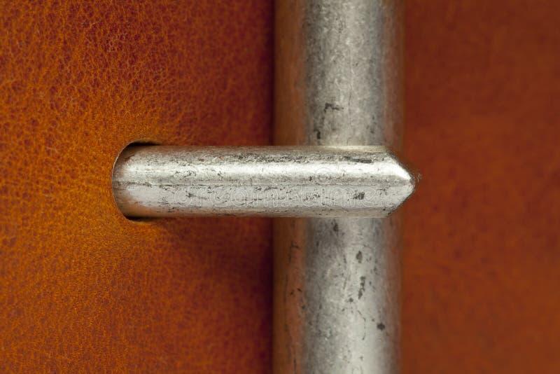 Closeup of belt clasp stock images