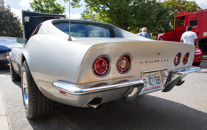 Closeup of a Classic 1969 Chevy Corvette royalty free stock photo
