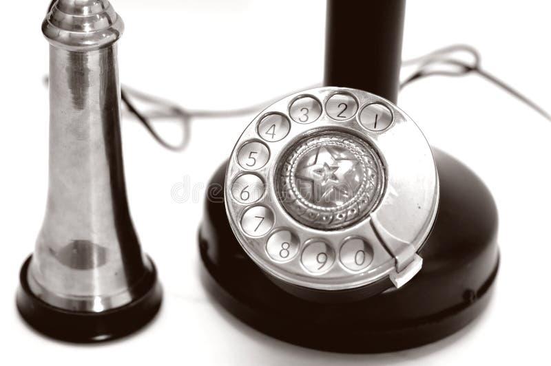 Closeup classic telephone stock photography