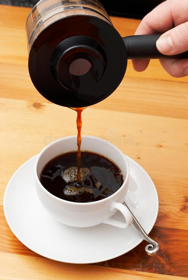 Closeup of coffee stock photo