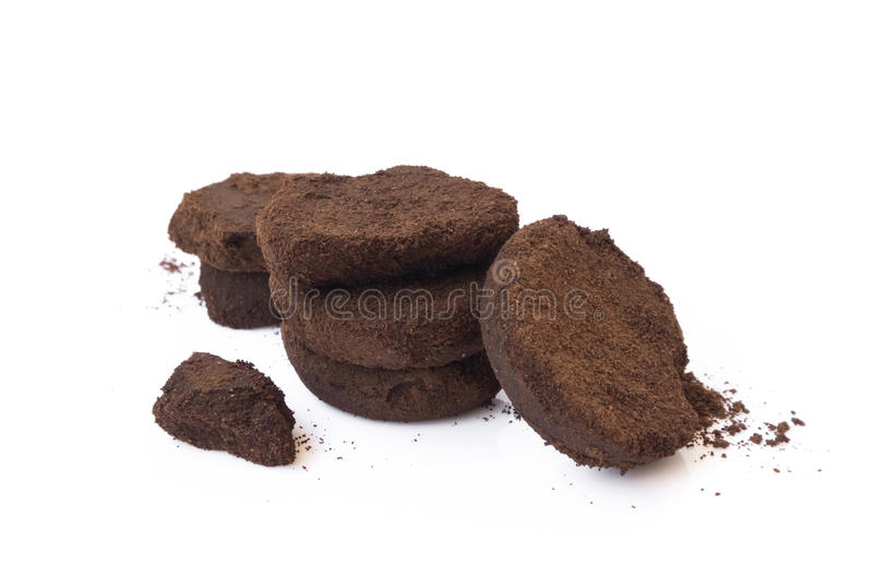 Closeup coffee grounds royalty free stock photography