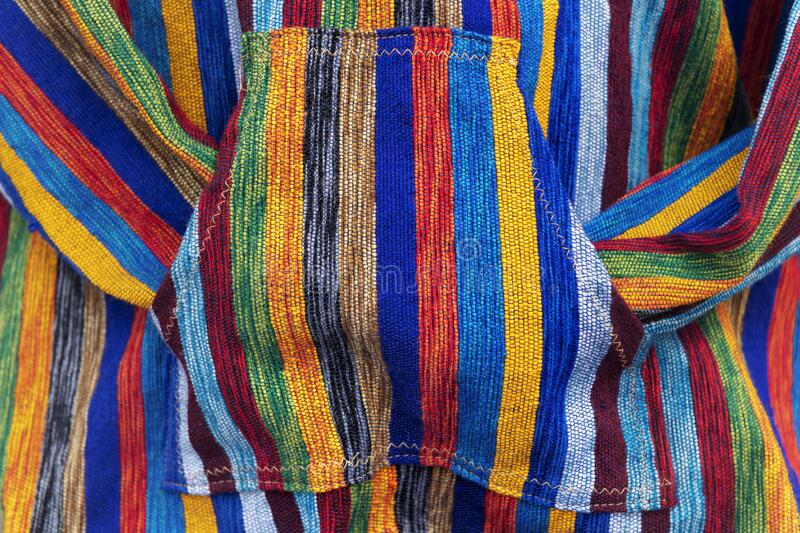 Closeup of a colorful Moroccan handmade jacket stock photography