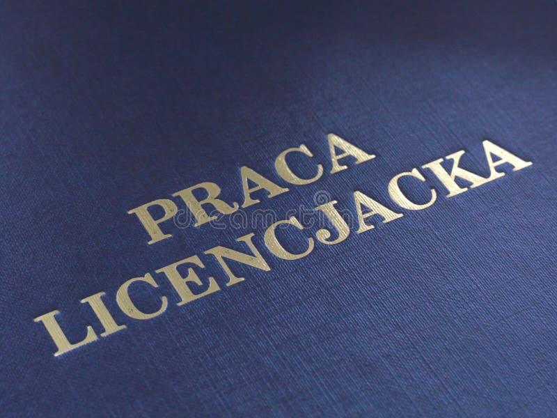 Polish bachelor dissertation royalty free stock images