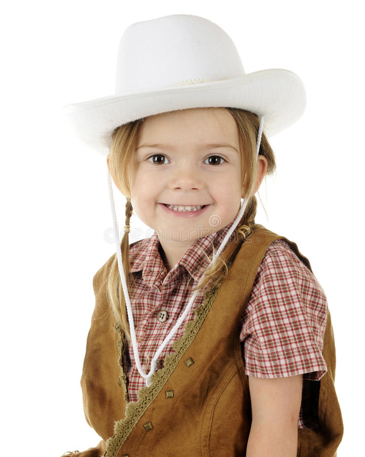 Download Closeup Cowgirl stock image. Image of happy, person, child - 28464281