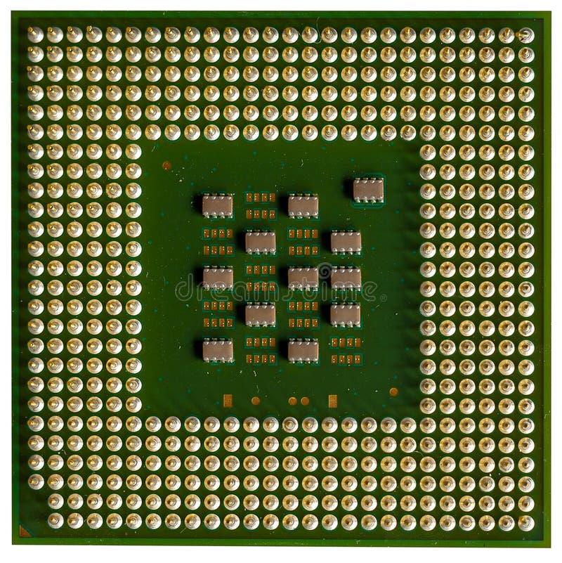 Closeup CPU computer on white background royalty free stock photos