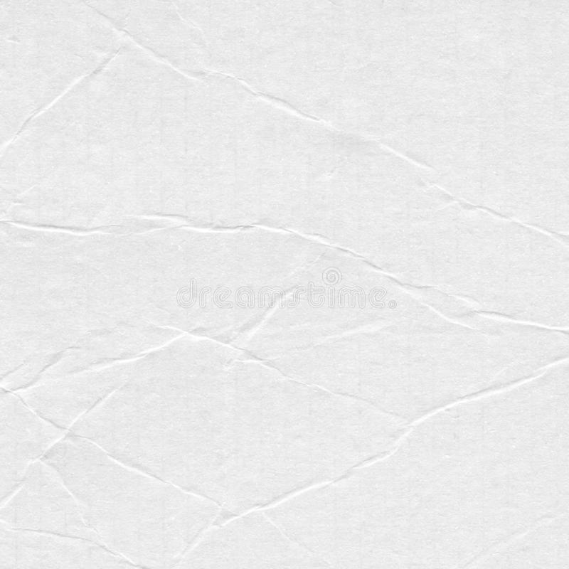 Closeup crumpled white paper texture background, texture. White paper sheet board with space for text ,pattern or abstract backgr royalty free stock photography