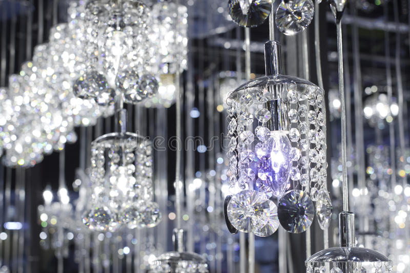 Closeup Crystal chandelier royalty free stock photos