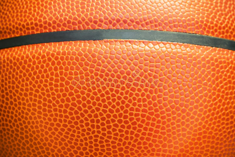 Closeup detail of basketball ball texture background stock photos