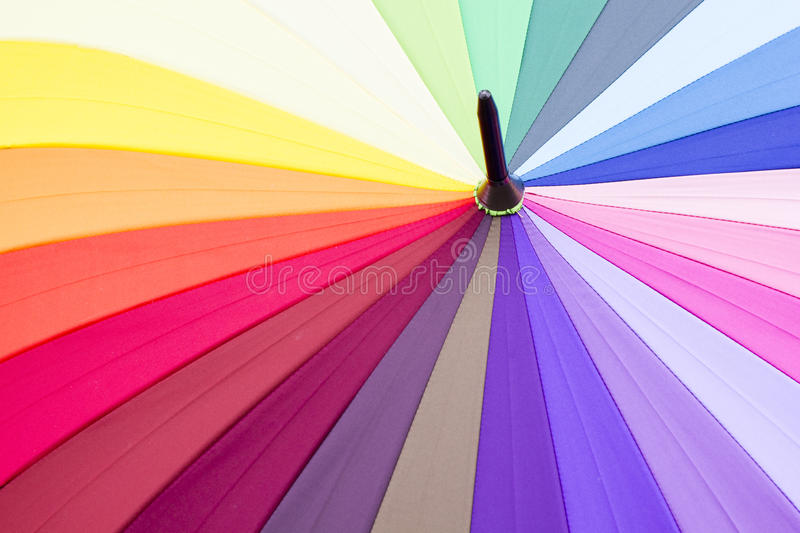 Closeup detail of multi color fabric. Texture royalty free stock image