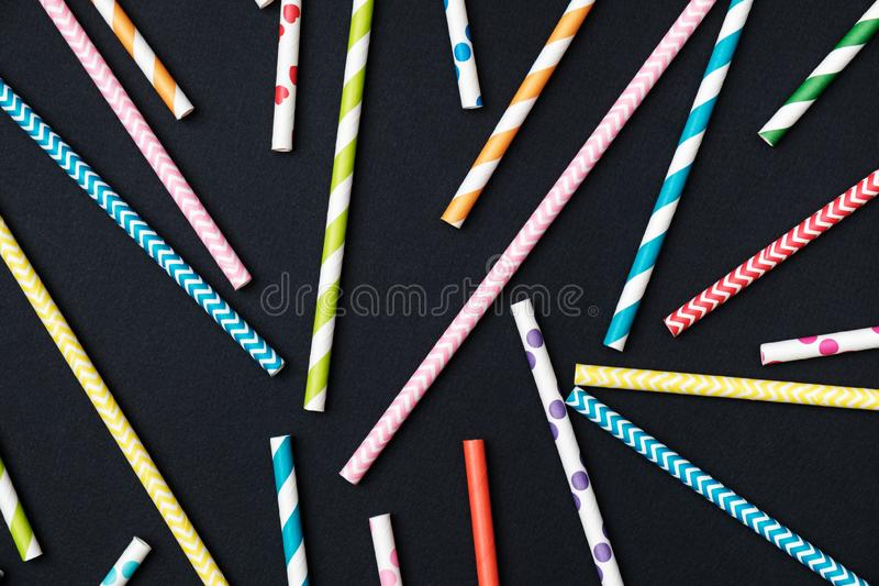 Closeup of drinking straws for party royalty free stock images