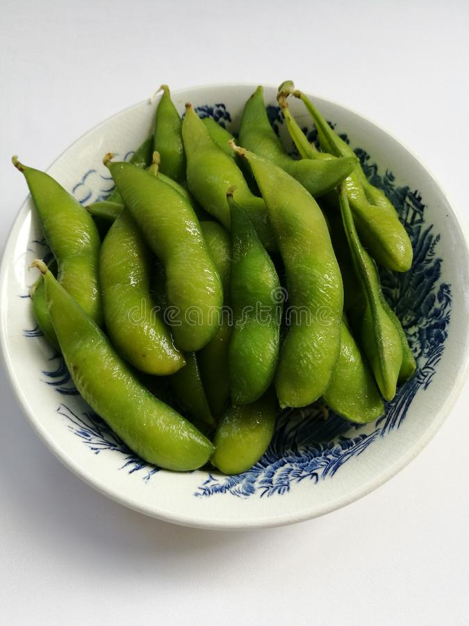 Edamame soy beans stock images