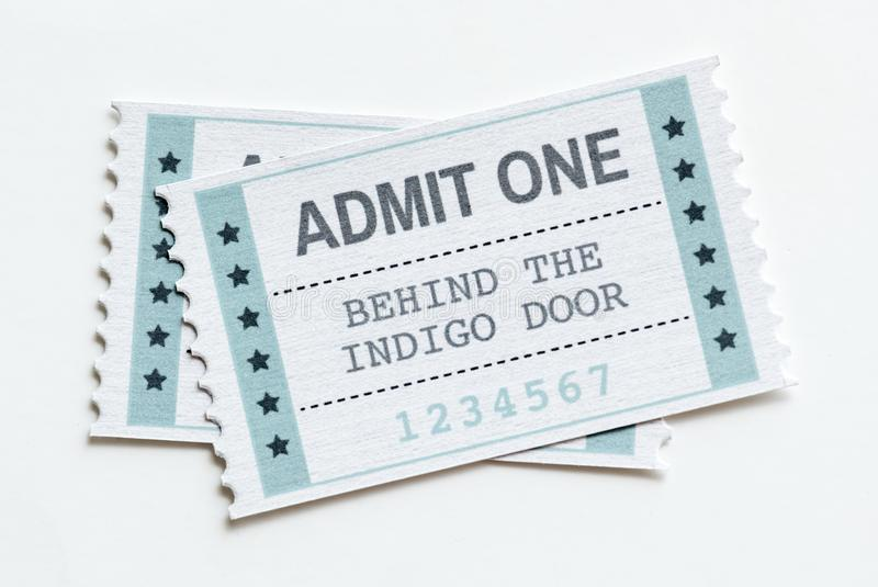 Closeup of an entertainment show ticket royalty free illustration