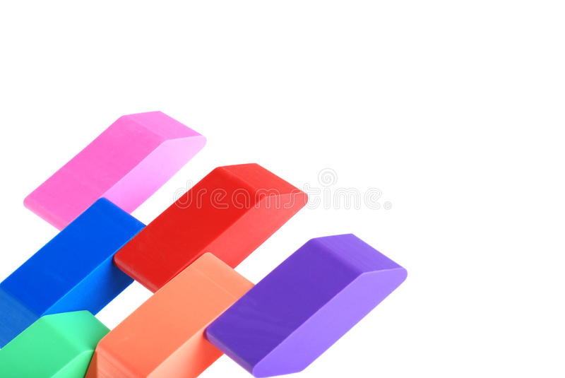 Download Closeup of erasers stock photo. Image of office, closeup - 15990576
