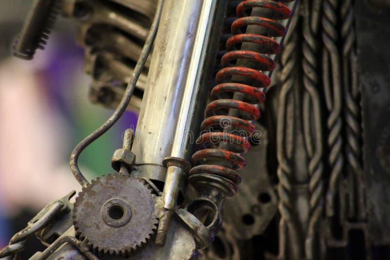 Closeup för bakgrund för Steampunk stil mekanisk fotografering för bildbyråer