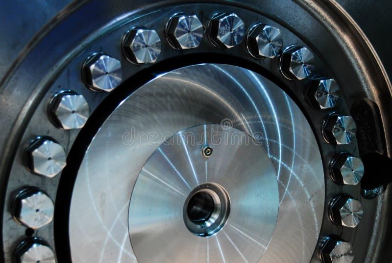 Closeup för blad för Machnine turbinrotor royaltyfria foton