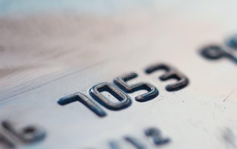 Closeup för kreditkortnummer royaltyfria foton