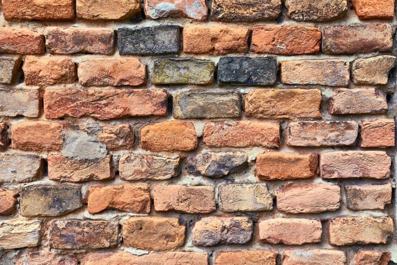 Closeup för tegelstenvägg arkivfoton