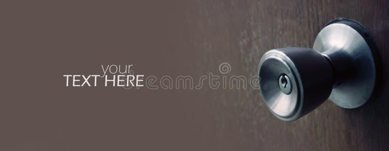 Closeup f?r d?rrhandtag arkivfoto