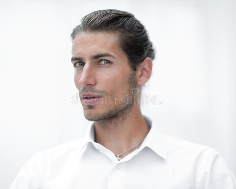 Download Closeup.face Of Beautiful Business Person. Stock Image - Image of occupation, handsome: 107398201